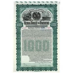 Vera Cruz and Pacific Railroad Co., 1904 Issued Stock Certificate.