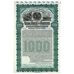 Vera Cruz and Pacific Railroad Co., 1904 Issued Stock Certificate.