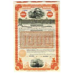Minneapolis, St. Paul and Sault Ste. Marie Railway Co., 1888 Specimen Bond