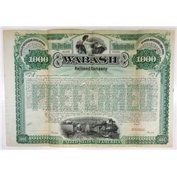 Wabash Railroad Co. 1889 Specimen Bond.