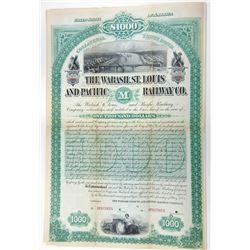 Wabash, St. Louis and Pacific Railway Co. 1883 Specimen Bond.