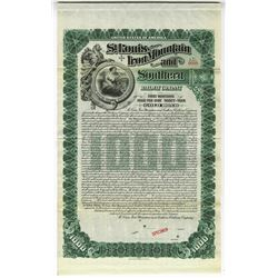 "St.Louis, Iron Mountain and Southern Railway  Co., 1903 ""River and Gulf Divisions"" Specimen Bond."