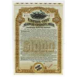Empire City Subway Co., Ltd., 1892 Specimen Bond.