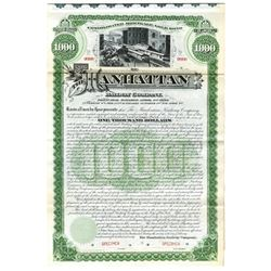 Manhattan Railway Co., 1890 Specimen Bond