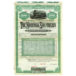 "Norfolk Southern Railroad Co., 1884 Specimen ""$300"" Bond."