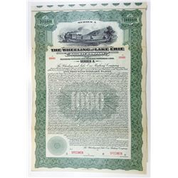 Wheeling and Lake Erie Railway Co., 1916 Specimen Bond.
