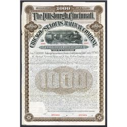 Pittsburgh, Cincinnati, Chicago and St. Louis Railway Co., 1903 Specimen Bond.