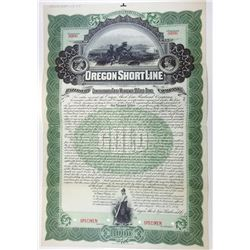 Oregon Short Line Railroad Co., 1897 Specimen Bond.