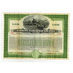 Carolina, Clinchfield and Ohio Railway Co. 1908 Specimen Registered Gold Bond.