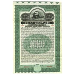 Chesapeake and Ohio Railway Co., 1909 Specimen Bond