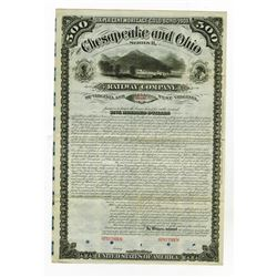 Chesapeake and Ohio Railway Co., 1878 Specimen Gold Bond.
