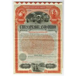 Chesapeake and Ohio Railway Co., 1892 Specimen Gold Bond.