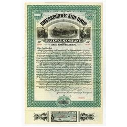 "Chesapeake and Ohio Railway Co., 1900 Specimen Certificate of Participation - ""Car Contracts"" Bond."