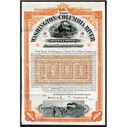 Washington and Columbia River Railway Co. 1896 Specimen Bond.