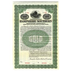 Hampshire Southern Railroad Co., 1909 Specimen Bond