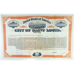 "City of Saint Louis, 1930 Specimen ""Relief"" Gold Bond."