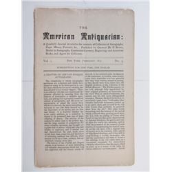 2 Issues of American Antiquarian, 1871-1872