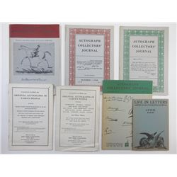Collection of Autograph Catalogues 1939-1952