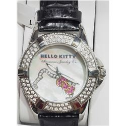HELLO KITTY GENUINE LEATHER WATER RESISTANT WATCH