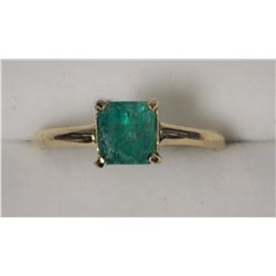14K YELLOW GOLD EMERALD RING (1.10ct)