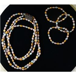 """HONORA CULTURED PEARL 62"""" NECKLACE"""