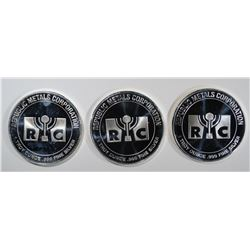 3 - .999 SILVER RMC ROUNDS