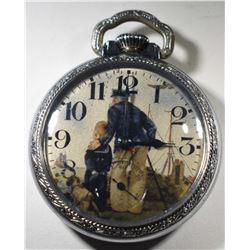 NY Standard Pocket Watch with Sailor, Circa 1894,