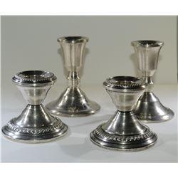 2 Sets of CANDLE STICKS STERLING SILVER