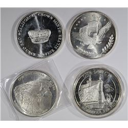 4 - 1oz .999 SILVER ROUNDS