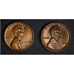 1928 GEM BU & 1933 BU LINCOLN CENTS