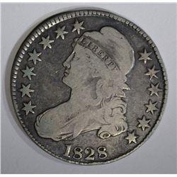 1828 BUST HALF DOLLAR O-110, VG+