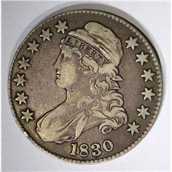 1830 BUST HALF DOLLAR O-115, VF++