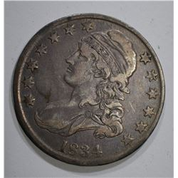 1834 BUST HALF DOLLAR O-108, XF ORIGINAL