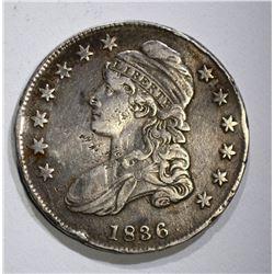 1836 BUST HALF DOLLAR O-106, VF+ nicks