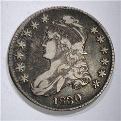 "1830 BUST HALF DOLLAR, SMALL ""O"" VF"
