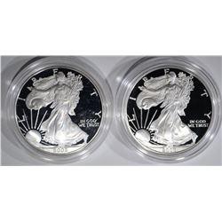 2002-W & 2006-W AMERICAN SILVER EAGLE DOLLARS