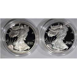 1989-S & 1990-S AMERICAN SILVER EAGLE DOLLARS