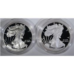 2003-W & 2008-W AMERICAN SILVER EAGLE DOLLARS