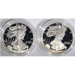 1995-P & 2001-W AMERICAN SILVER EAGLE DOLLARS