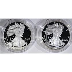 2005-W & 2011-W AMERICAN SILVER EAGLE DOLLARS