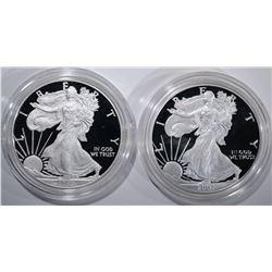 2007-W & 2012-W AMERICAN SILVER EAGLE DOLLARS