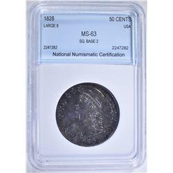 1828 CAPPED BUST HALF DOLLAR NNC CH BU