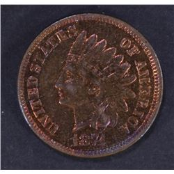 1874 INDIAN HEAD CENT  VERY CH.BU