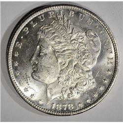 1878-S MORGAN DOLLAR, CH BU+ ORIGINAL