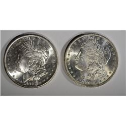 1881-S & 1883-O CH BU MORGAN DOLLARS