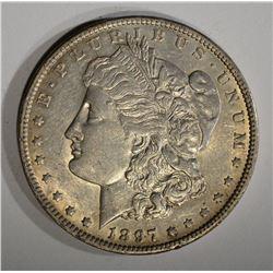 1897-O MORGAN DOLLAR, AU+