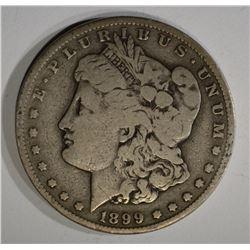 1899-S MORGAN DOLLAR, VG/F BETTER DATE