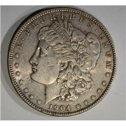 1904 MORGAN DOLLAR, XF/AU