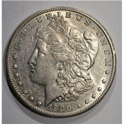 1900-S MORGAN DOLLAR, AU/BU