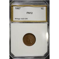 1867 INDIAN CENT, PCI FINE